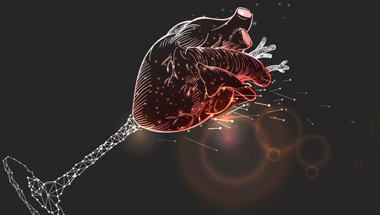 kadeh  ve kalp çizimi.