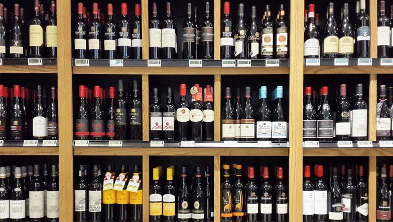 migros şarap reyonu